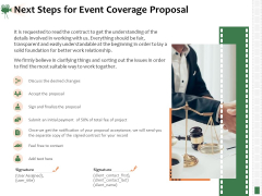 Corporate Event Videography Proposal Next Steps For Event Coverage Proposal Rules PDF