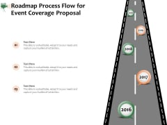Corporate Event Videography Proposal Roadmap Process Flow For Event Coverage Proposal Inspiration PDF