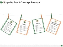 Corporate Event Videography Proposal Scope For Event Coverage Proposal Background PDF