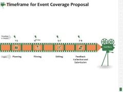 Corporate Event Videography Proposal Timeframe For Event Coverage Proposal Diagrams PDF