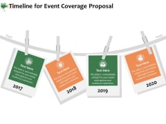 Corporate Event Videography Proposal Timeline For Event Coverage Proposal Background PDF