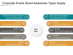 Corporate Events Brand Awareness Types Supply Chain Management Ppt PowerPoint Presentation Infographic Template Demonstration