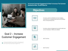 Corporate Execution And Financial Liability Report Goal 2 Increase Customer Engagement Brochure PDF
