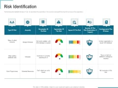 Corporate Execution And Financial Liability Report Risk Identification Demonstration PDF