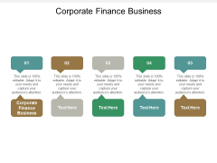 Corporate Finance Business Ppt PowerPoint Presentation Icon Background Designs Cpb