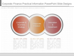 Corporate Finance Practical Information Powerpoint Slide Designs