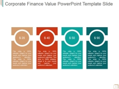 Corporate Finance Value Ppt PowerPoint Presentation Layout