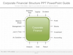 Corporate Financial Structure Ppt Powerpoint Guide