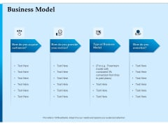 Corporate Fundraising Ideas And Strategies Business Model Ppt Professional Slideshow PDF