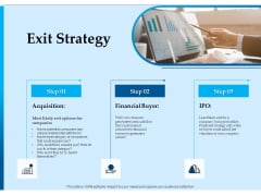 Corporate Fundraising Ideas And Strategies Exit Strategy Ppt Outline Rules PDF