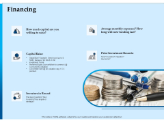 Corporate Fundraising Ideas And Strategies Financing Ppt Infographic Template Objects PDF
