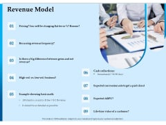 Corporate Fundraising Ideas And Strategies Revenue Model Ppt Diagram Lists PDF