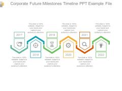 Corporate Future Milestones Timeline PPT Example File