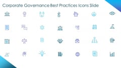 Corporate Governance Best Practices Icons Slide Ideas PDF