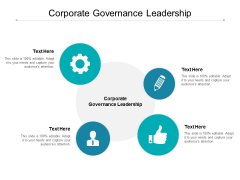 Corporate Governance Leadership Ppt PowerPoint Presentation Outline Templates Cpb