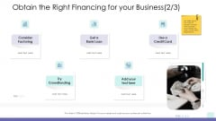 Corporate Governance Obtain The Right Financing For Your Business Loan Background PDF