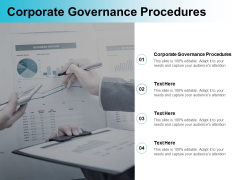 Corporate Governance Procedures Ppt PowerPoint Presentation Inspiration Display Cpb