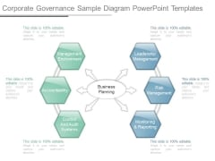 Corporate Governance Sample Diagram Powerpoint Templates