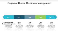 Corporate Human Resources Management Ppt PowerPoint Presentation Summary Template Cpb
