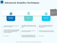 Corporate Intelligence Business Analysis Advanced Analytics Techniques Ppt Professional PDF