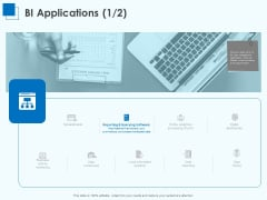Corporate Intelligence Business Analysis BI Applications Ppt Gallery Background Designs PDF