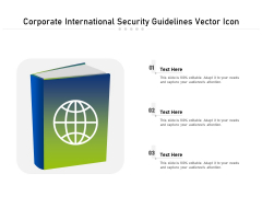 Corporate International Security Guidelines Vector Icon Ppt PowerPoint Presentation Model Example Introduction PDF