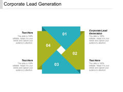 Corporate Lead Generation Ppt PowerPoint Presentation Professional Display Cpb