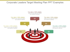 Corporate Leaders Target Meeting Plan Ppt Examples