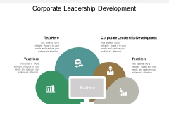 Corporate Leadership Development Ppt PowerPoint Presentation Show Icons Cpb