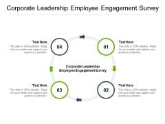 Corporate Leadership Employee Engagement Survey Ppt PowerPoint Presentation File Outfit Cpb