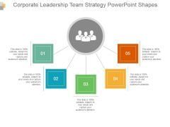 Corporate Leadership Team Strategy Powerpoint Shapes