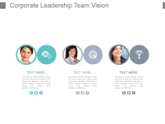 Corporate Leadership Team Vision Powerpoint Slide Show