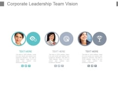 Corporate Leadership Team Vision Powerpoint Slide Show