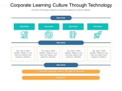Corporate Learning Culture Through Technology Ppt PowerPoint Presentation Ideas Layouts Cpb Pdf