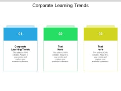 Corporate Learning Trends Ppt PowerPoint Presentation Layouts Icons Cpb