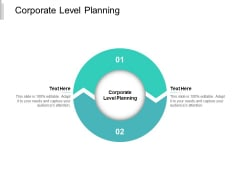 Corporate Level Planning Ppt PowerPoint Presentation Summary Grid Cpb