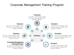 Corporate Management Training Program Ppt PowerPoint Presentation Infographic Template Portfolio Cpb