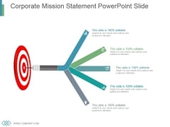 Corporate Mission Statement Powerpoint Slide