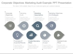 Corporate Objectives Marketing Audit Example Ppt Presentation