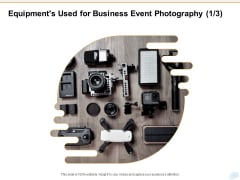 Corporate Occasion Videography Proposal Equipments Used For Business Event Photography Adapt Sample PDF