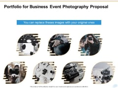 Corporate Occasion Videography Proposal Portfolio For Business Event Photography Proposal Mockup PDF