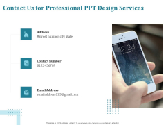 Corporate PPT Design Contact Us For Professional PPT Design Services Ppt Icon Inspiration PDF