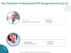 Corporate PPT Design Our Team For Professional PPT Design Services Elements PDF