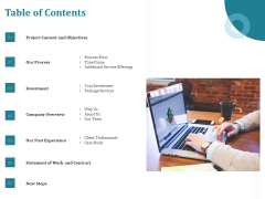 Corporate PPT Design Table Of Contents Ppt Model Objects PDF