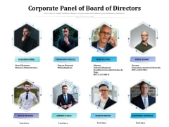 Corporate Panel Of Board Of Directors Ppt PowerPoint Presentation File Background Image PDF