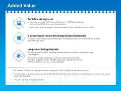 Corporate Partnership And Sponsorship Proposals Added Value Ppt Pictures Deck PDF