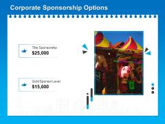Corporate Partnership Corporate Sponsorship Options Ppt Infographic Template Graphics PDF