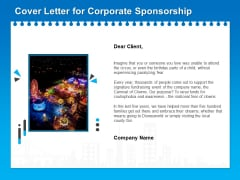 Corporate Partnership Cover Letter For Corporate Sponsorship Ppt Outline Files PDF