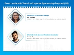 Corporate Partnership Event Leadership Team For Corporate Sponsorship Proposal Guidelines PDF