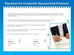 Corporate Partnership Signature For Corporate Sponsorship Proposal Formats PDF